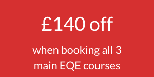 EQE exam revision courses special offer